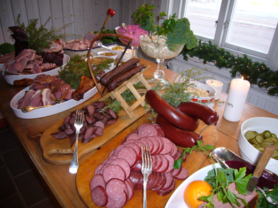 Swedish julbord at xmas